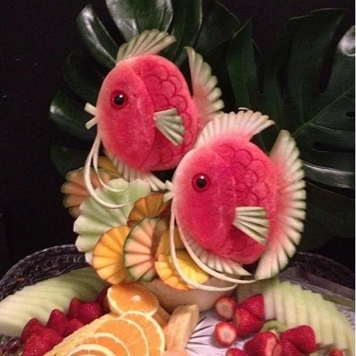تزیین سینی میوه