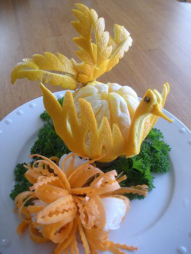 تزیین پرتقال پرنده